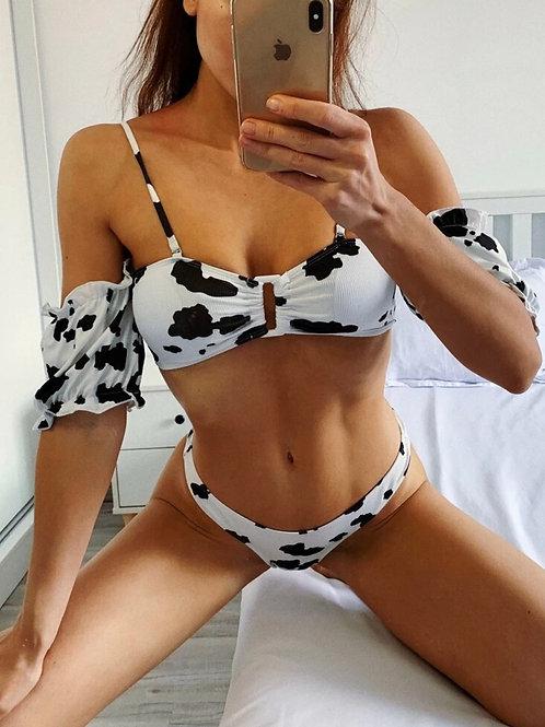Cow Print Bikini Set