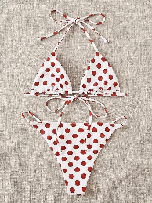 Red Polka Bikini