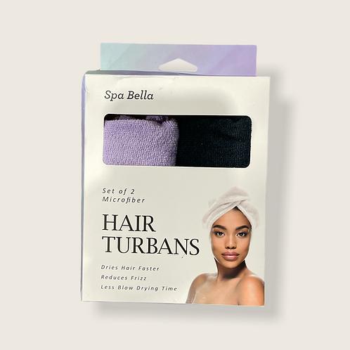 Spa Bella Set of 2 Hair Turbans