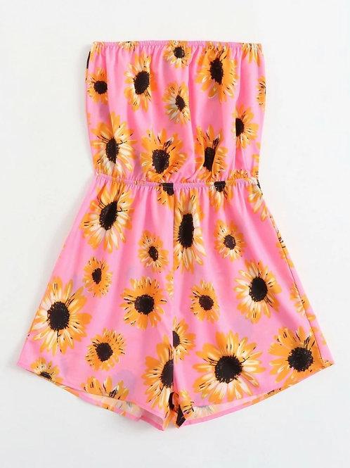 Pink Sunflower Romper 🌻