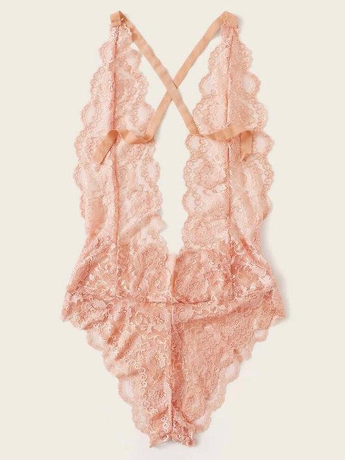 Floral Cream Lace Bodysuit