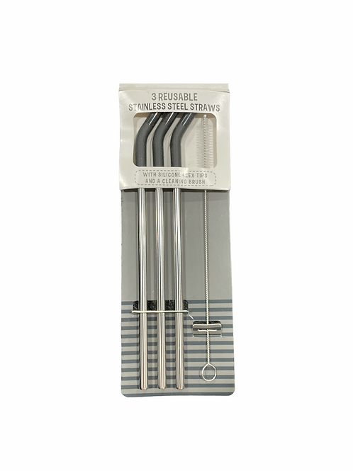 EXQUIS Reusable Stainless Steel Straws