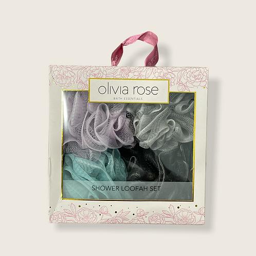 Olivia Rose Shower Loofah Set