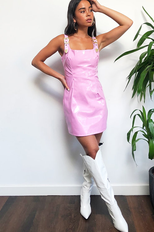 Baby Pink Vinyl Dress