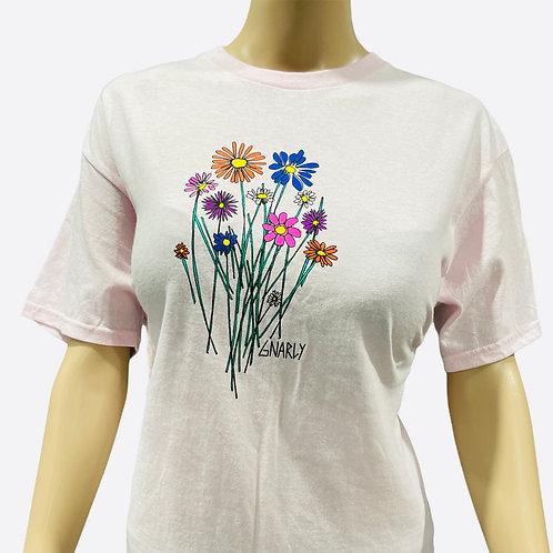 Gnarly Flowers Print Tee