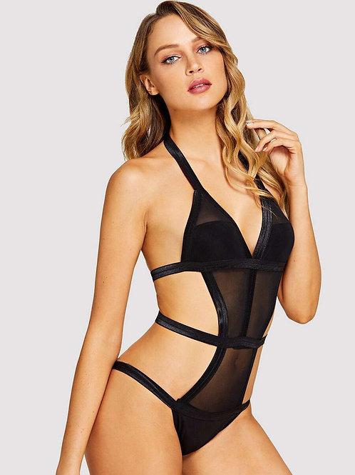 Sheer Black Bodysuit