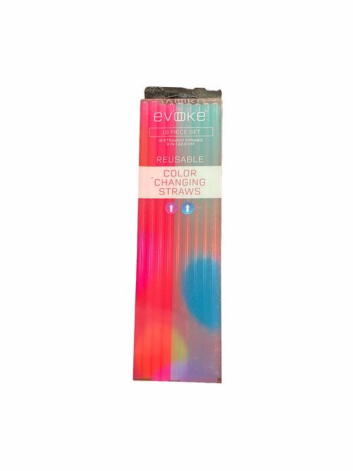 Evoke 18 PCs Color Changing Straws