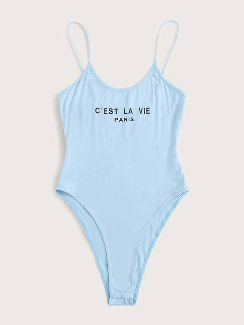 Blue Cami Bodysuit