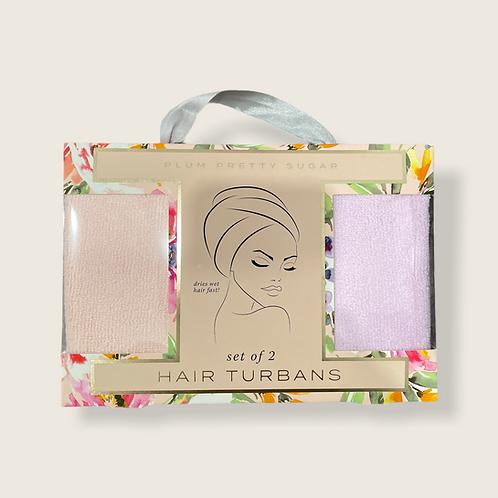 Set of 2 Hair Turbans