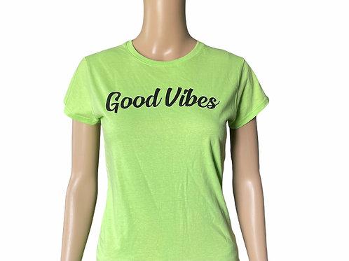 Good Vibes Green Tee