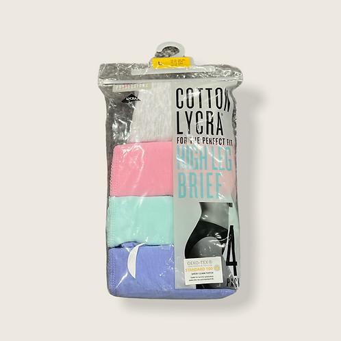 Lycra High Leg Brief 4Pk