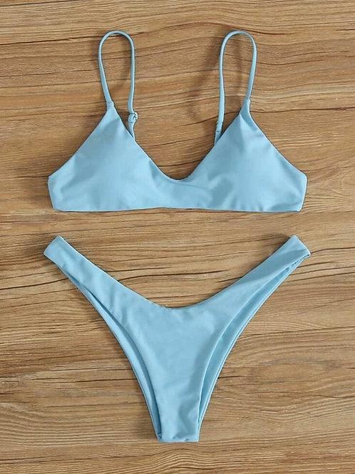 Light Blue High Cut Bikini
