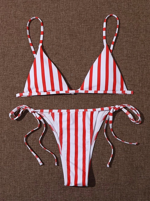 Red Stripe Bikini