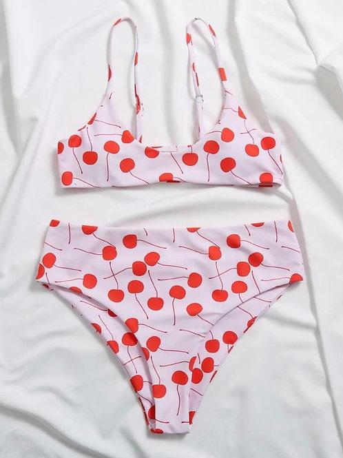 Cherry Print Bikini