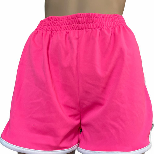 Neon Pink Workout Shorts