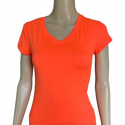 Bright Neon Orange Tee