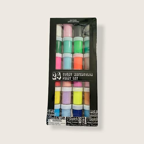 Watercolor Paint Set (24 Count)