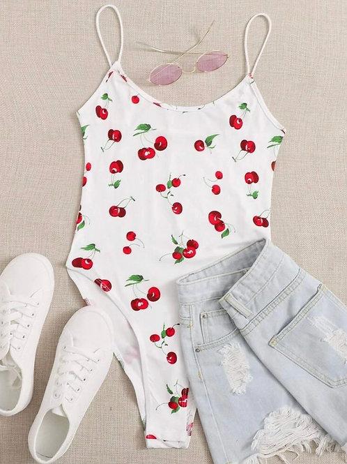 Cherry Print Cami Bodysuit