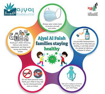 Ajyal Al Falah students staying healthy-
