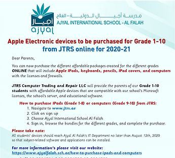 Apple Electronic devices to be purchased