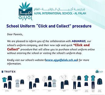 School Uniform  Click and Collect  proce
