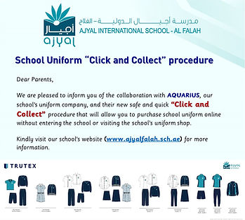 School Uniform  Click and Collect  proce
