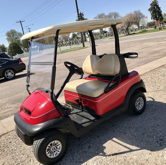 2017 Club Car Electric - 48 volt - Red -high speed code - new body
