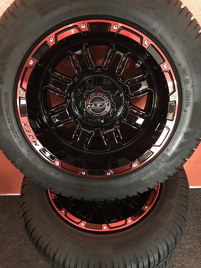 12x7 MJFX Black/Red Transformer Wheel -- Tire 12 inch 215/50-R-12