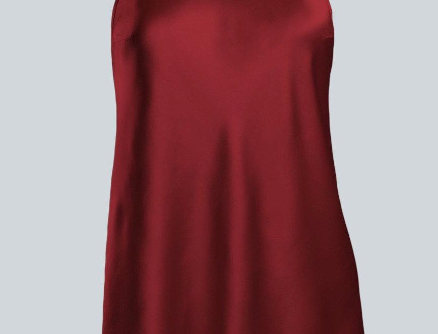 Silk Satin Racer Back Slip Dress