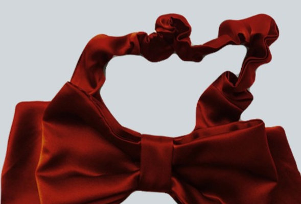 Red Silk Head Band with large Bow