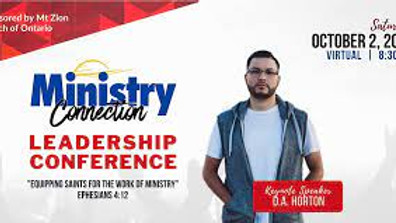 MINISTRY CONNECTION 2021 LEADERSHIP CONFERENCE