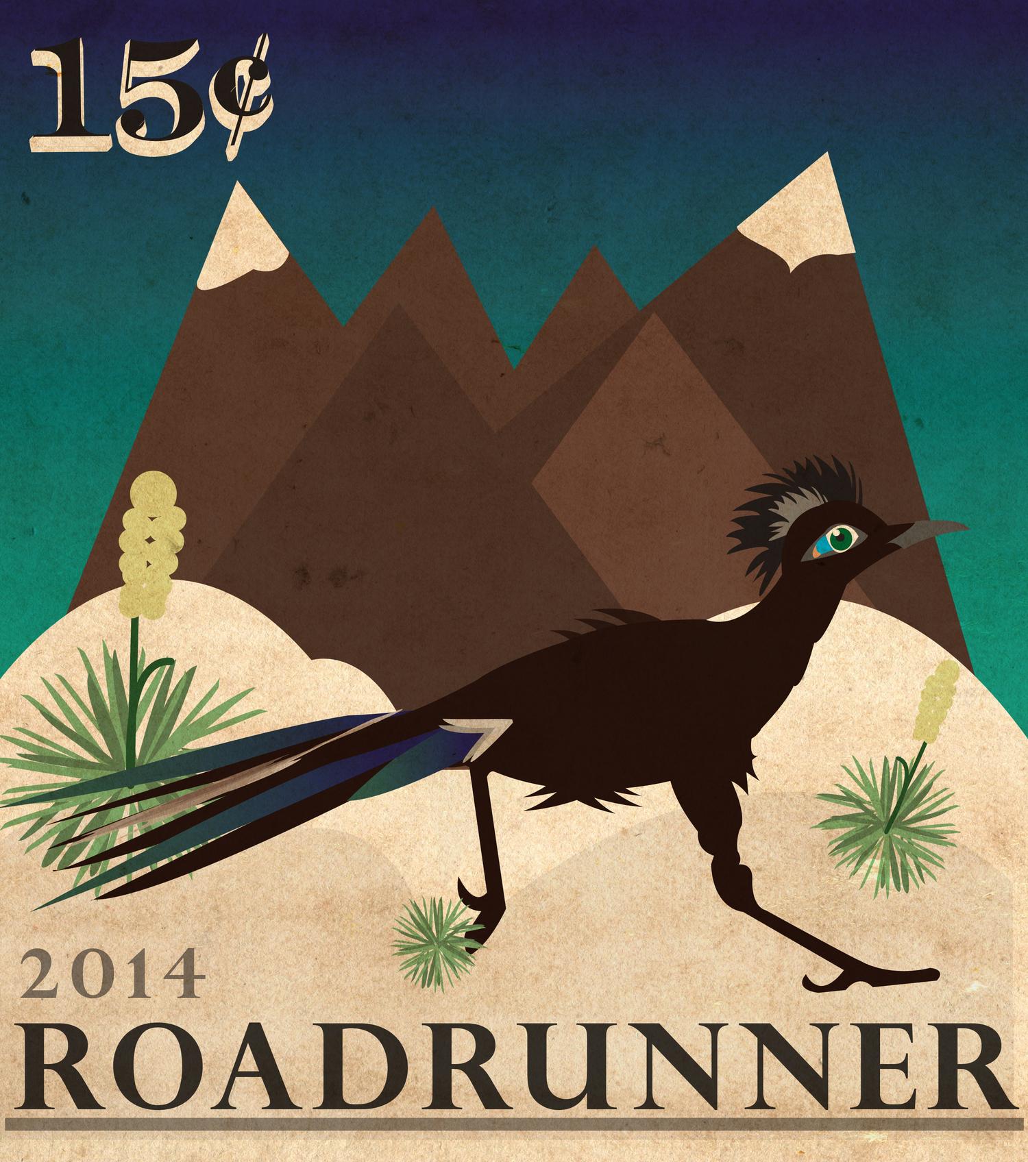 Roadrunner Stamp