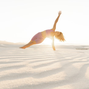 Desert Dwelling Yogi at White Sands