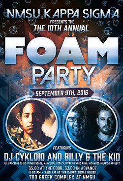 Foam Party Flyer Design
