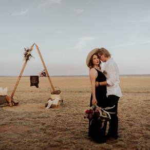 Modern Ranch New Mexico Elopement