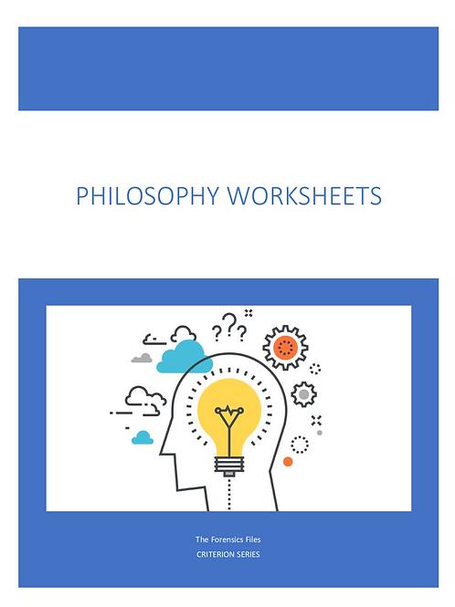 Philosophy Worksheets Set