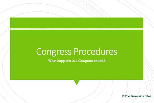 Congressional Debate Procedures (Powerpoint)