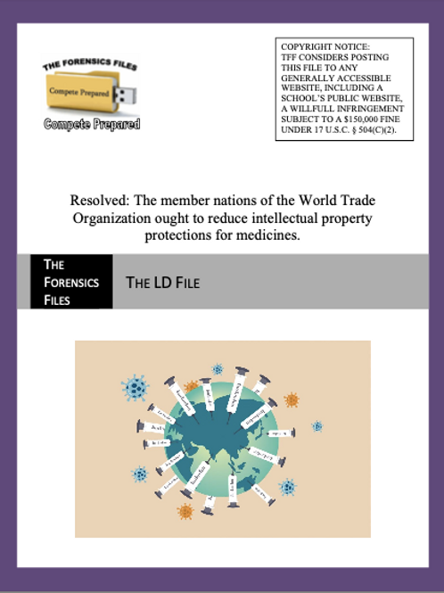 Sept/Oct LD File (NSDA) - WTO IP Protections