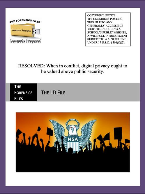 Spring UIL LD File - Digital Privacy v. Public Security
