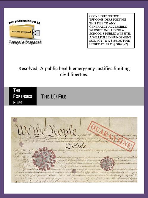 NSDA Nationals LD File - Public Health Emergencies