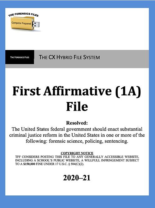 CX Hybrid File System 2020-21 - Criminal Justice Reform