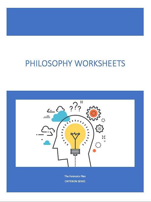 Criterion Philosophy Worksheets - Bundle Deal (Save $16)