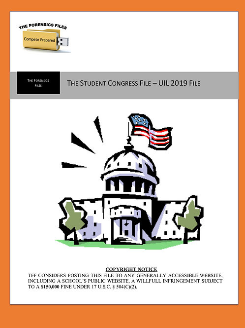 Student Congress – UIL 2019