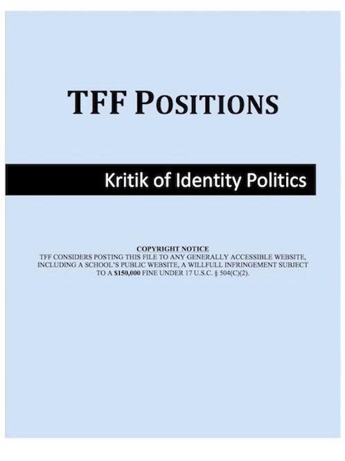 Kritik of Identity Politics (LD)