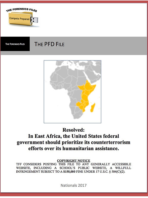 Sample PFD File (East Africa)