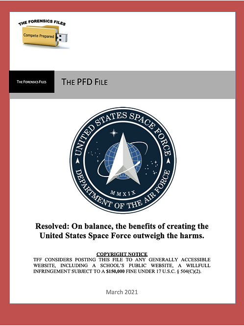 March PFD File (NSDA) - Space Force