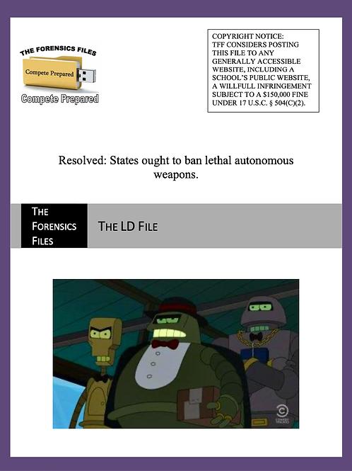 Jan/Feb LD File (NSDA) - Weapons Ban