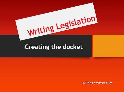 Writing Legislation (Congressional Debate Powerpoint)