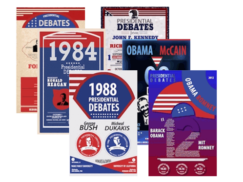 Presidential Debates Poster Set (All 14 Posters)