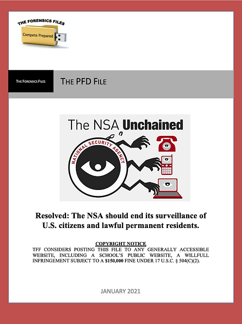 Jan PFD File (NSDA) - NSA Surveillance